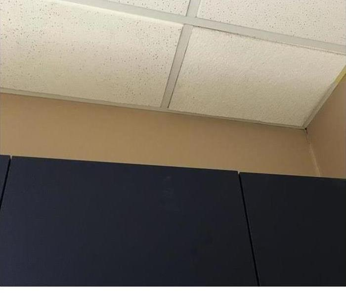 repaired ceiling tiles