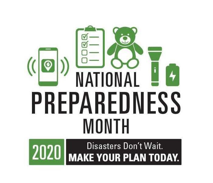 white background with green and black national preparedness month logo